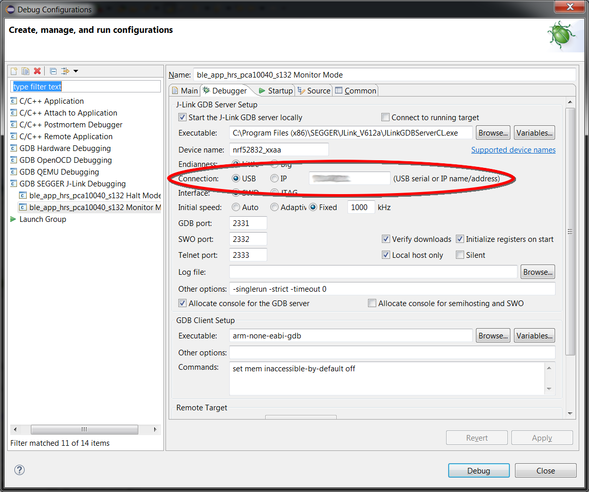 Monitor Mode Debugging with J-Link and GDB/Eclipse - Nordic
