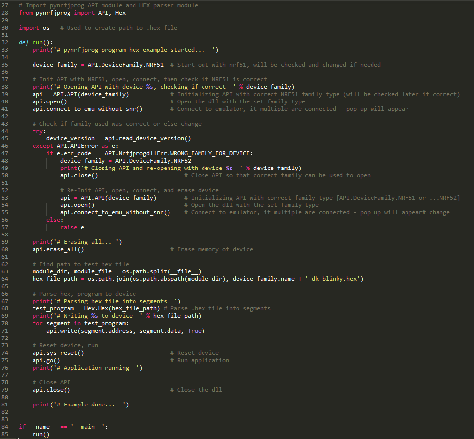 nrfjprog, pynrfjprog - Intro, Mac OS X & Linux now supported, New