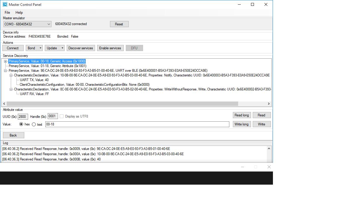 Nordic UART Service Descriptors? - Nordic DevZone