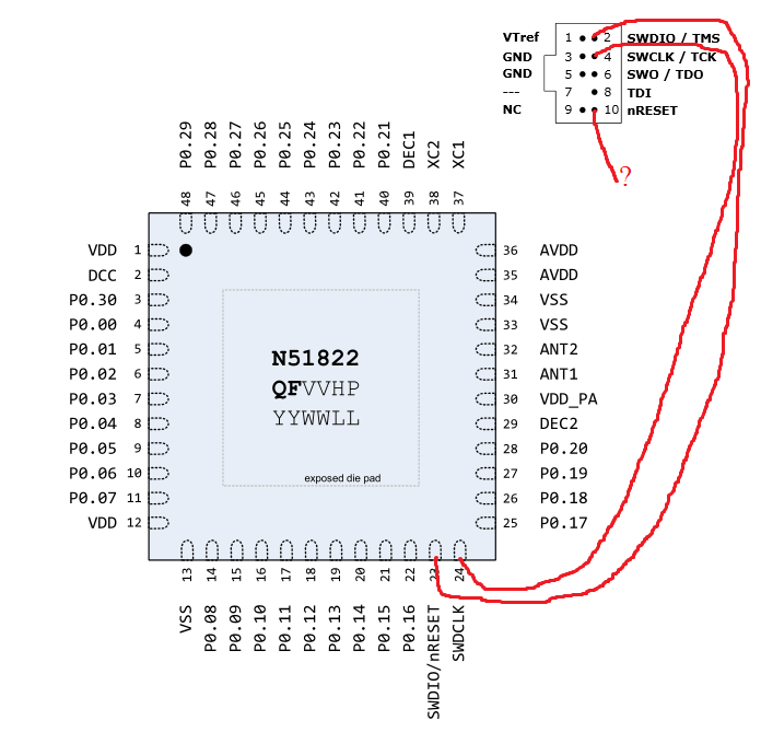 Connecting jlink lite with nrf51822 - Nordic DevZone