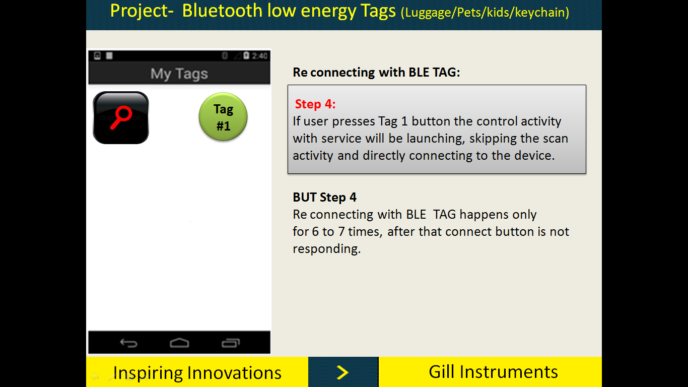 Bluetooth low energy (Re-connection with tags ) - Nordic DevZone