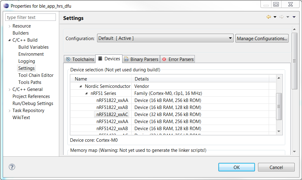 Very limited write access through EmbSys Registers - Nordic