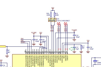 what is the red 'x' in the schematic? - Nordic DevZone on technical drawing, electronic design automation, piping and instrumentation diagram, schematic editor, data flow diagram, diagramming software, circuit diagram, function block diagram, block diagram, functional flow block diagram, tube map, straight-line diagram, ladder logic, one-line diagram, control flow diagram, schematic capture,