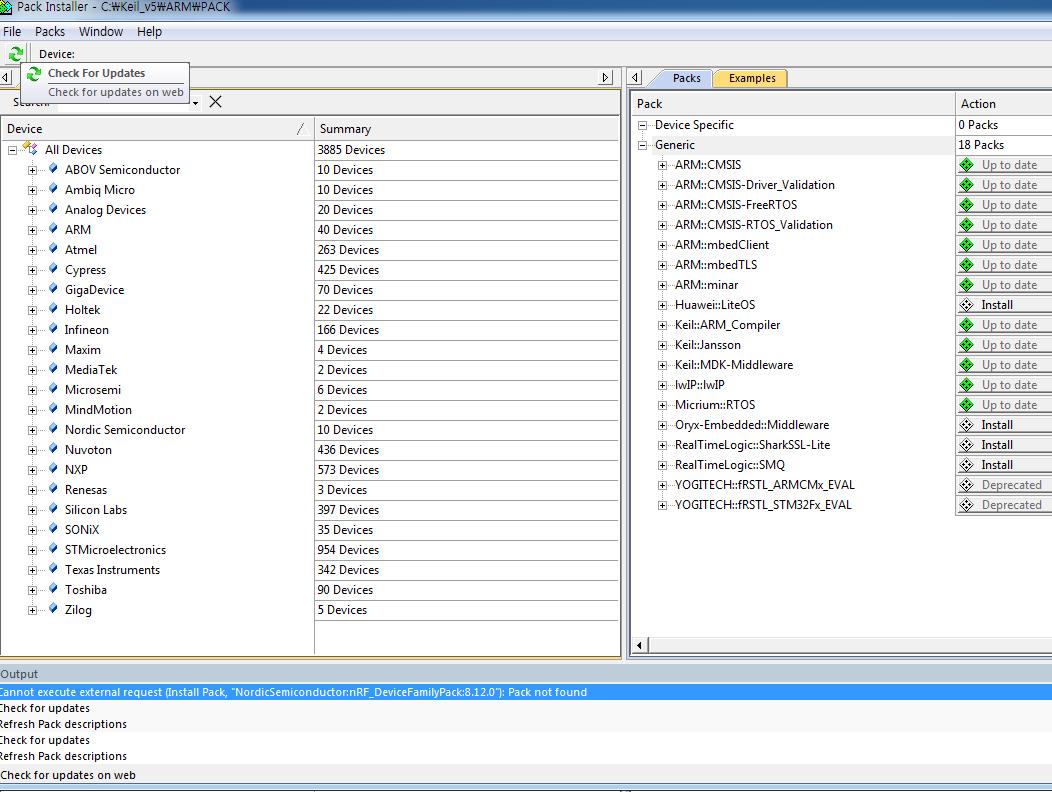 Keil - nRF_DeviceFamilyPack:8 12 0 Pack not found - Nordic DevZone