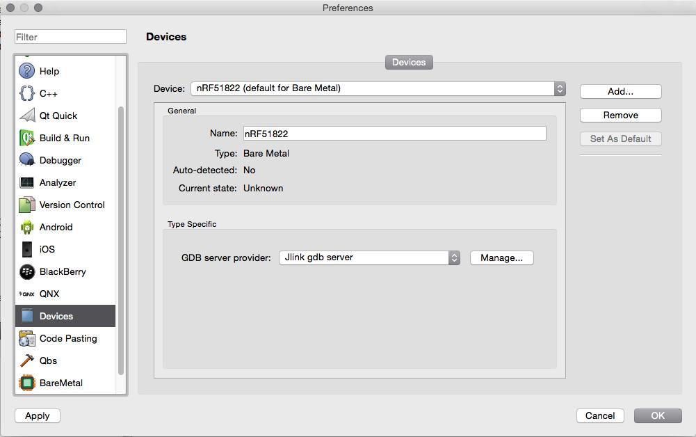 debugging using QtCreator on Mac - Nordic DevZone
