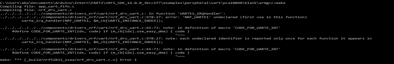 Hello! I'm trying to use UART1 instead of UART0 in the UART example
