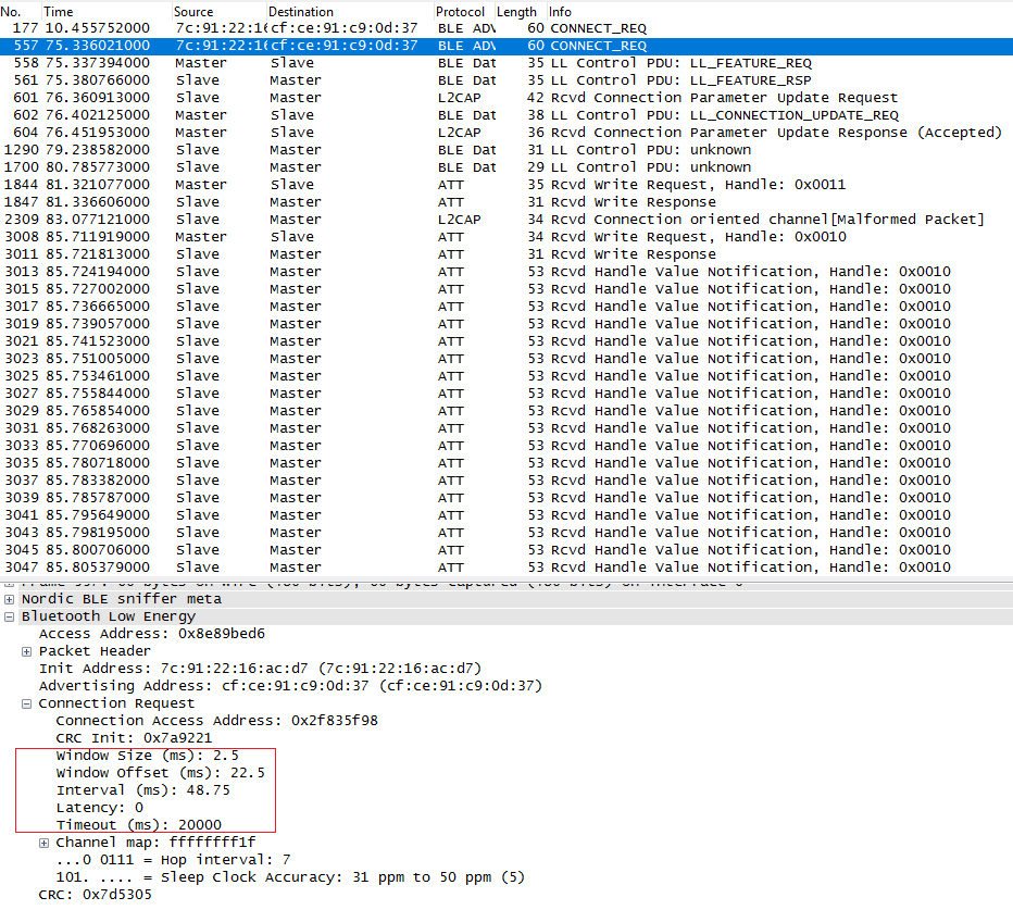 Receiving large amount of data in android via BLE - Nordic DevZone