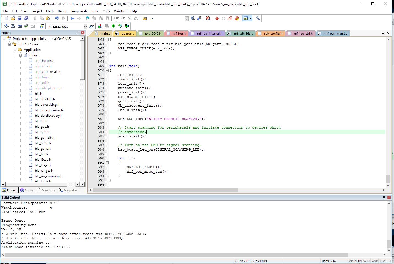 Setting up Keil MDK for DK nRF52832 SDK 14 0 0 example - Nordic DevZone