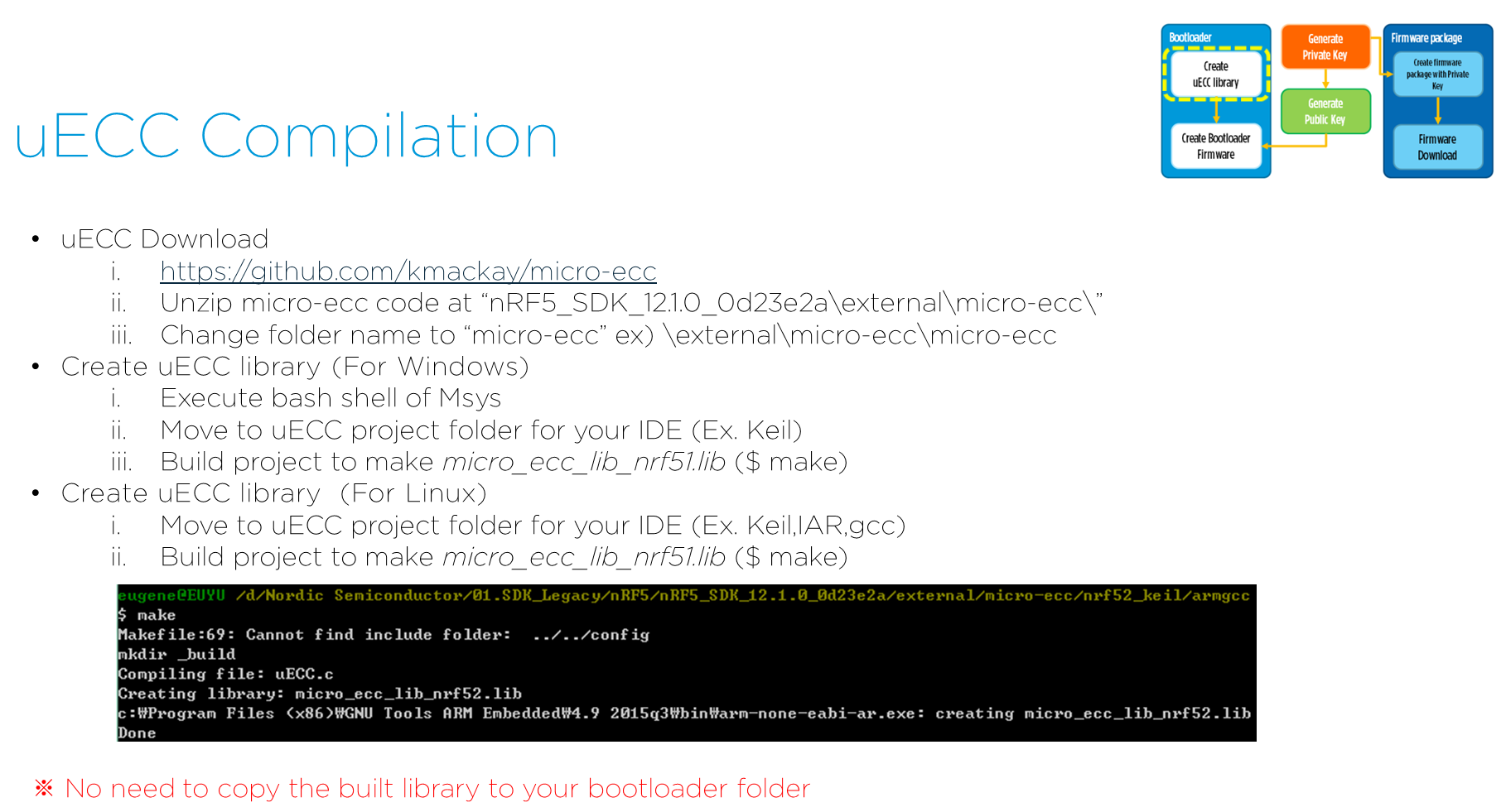 Installing micro-ecc issue - Nordic DevZone