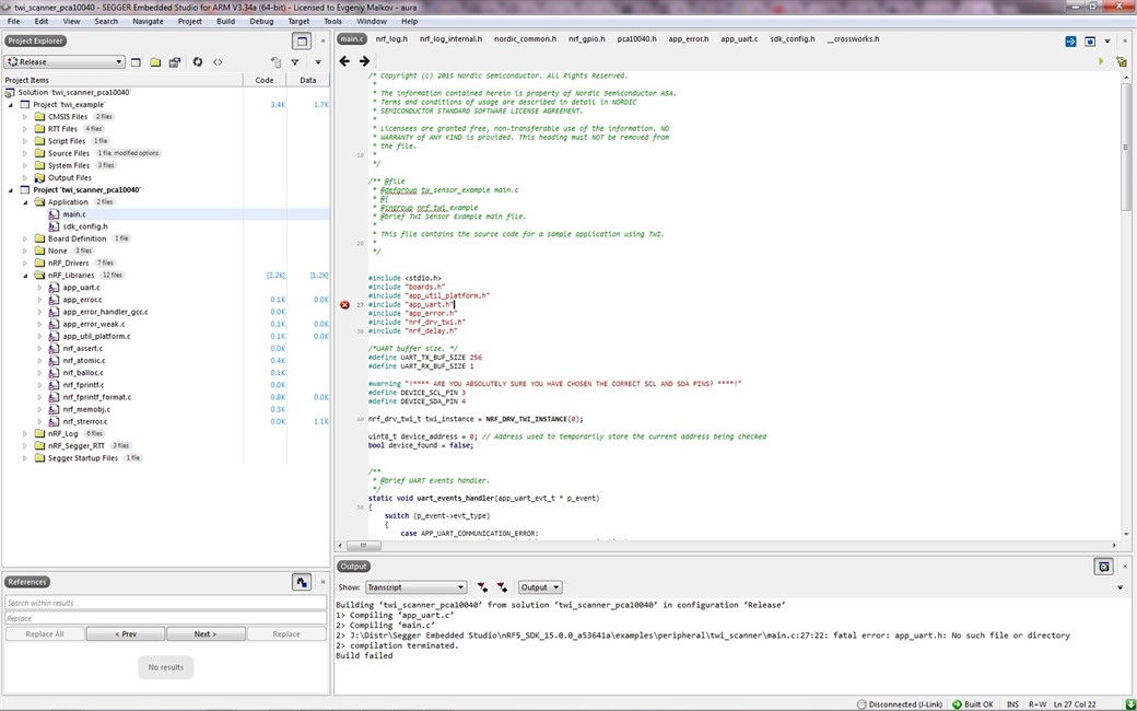 No such file or directory - Nordic DevZone