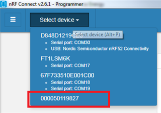 Cannot connect to JLINK Base programmer with nRF Connect 2 6