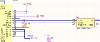 Chip Antenna Connection with QFN package nRF4122 - Nordic