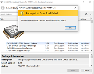 cannot open CMSIS configuration wizard in Segger Embedded