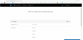 nrf9160 USA carrier certifications (Verizon / AT&T) - Nordic