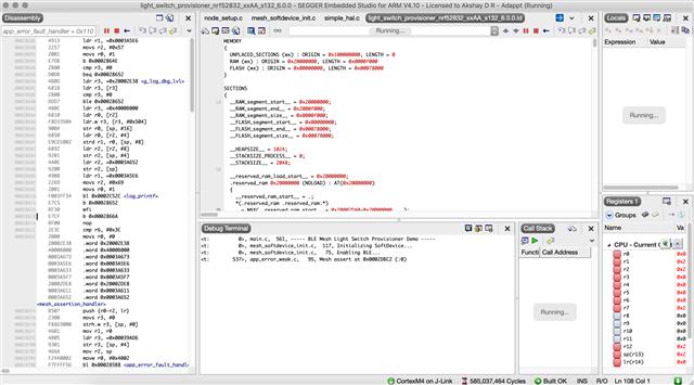 Mesh Provisioner app ram base error - Nordic DevZone