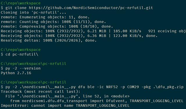 Running error of nrfutil 5 2 from source code - Nordic DevZone