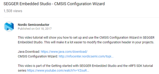 Problem using CMSIS in Segger Embedded Studio - Nordic DevZone