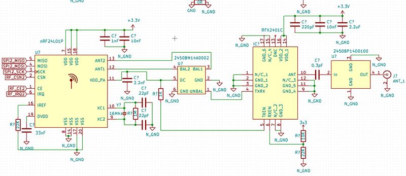 nRF24l01+ 2450BM14A0002 + RFX2401C + 2450BP14D0100  Using VDD_PA pin