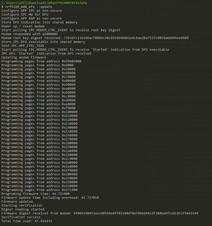 nrf9160 nrf9160_mdm_dfu install error - Nordic DevZone