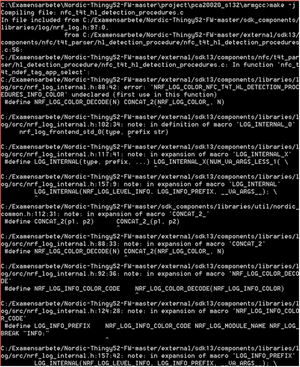 Compiling error on adafruit_tag_reader example on Thingy 52